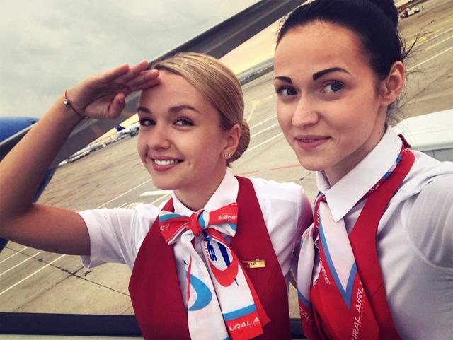 Бортпроводники Уральских авиалиний