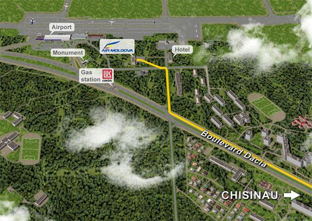 Карта аэропорт Кишинева