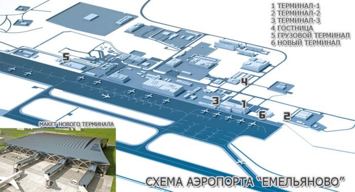 Схема аэропорта Емельяново