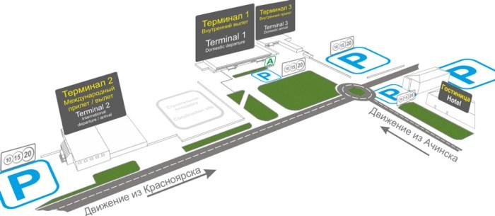 Схема въезда на парковки