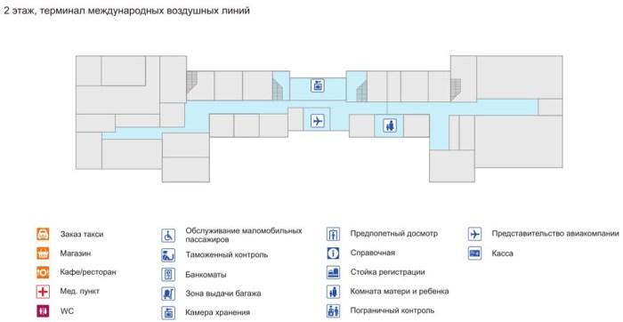 Терминал международных воздушных линий 1 этаж