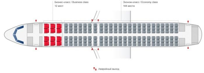 Airbus A320 схема салона уральские авиалинии