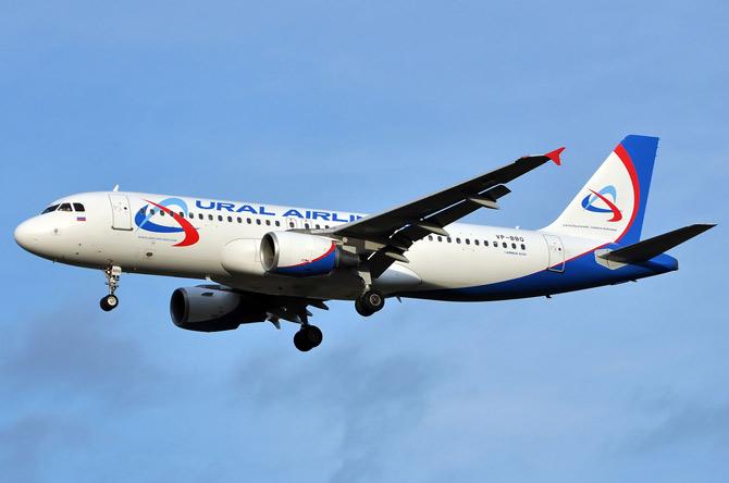Airbus A320 уральские авиалинии