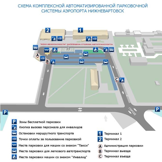 Схема парковки аэропорта
