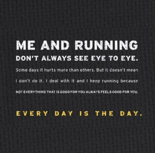 me and running don't always see eye to eye