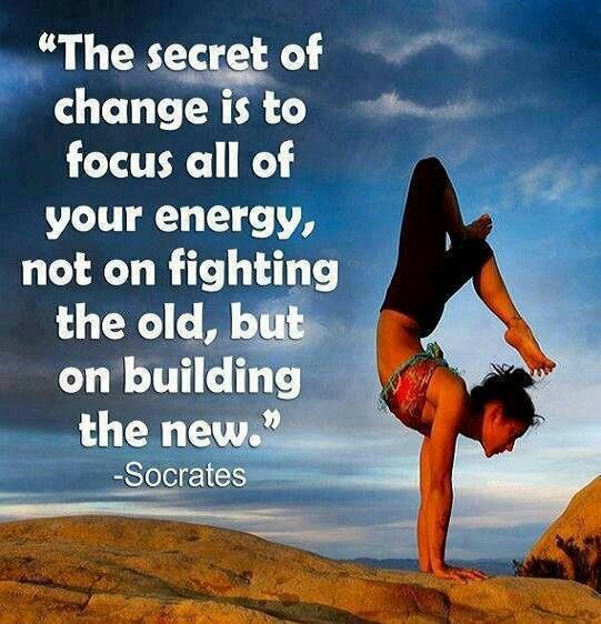 Stop fighting the old and start building the new. #Inspiration #Training #Motivation #run #fitness {PilotingPaperAirplanes.com}