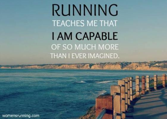 Running teaches me that I am capable #motivation #inspiration #health #fitness #run {PilotingPaperAirplanes.com}