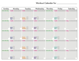 Workout calendar {Piloting Paper Airplanes}