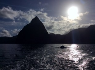 Departing St. Lucia Piton anchorage