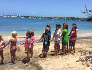 Mini-Olympics, tug-of-war in Grenada