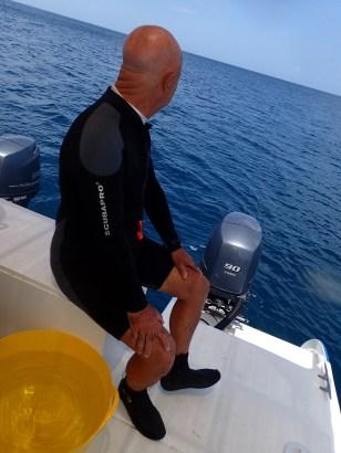 Capt. John, enjoying the view between dives