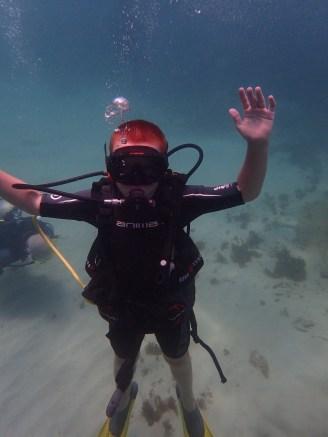Ryan, Underwater Sculpture Park, Molinere Bay, Grenada