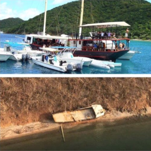 BRITISH VIRGIN ISLANDS BEFORE AND AFTER HURRICANE IRMA