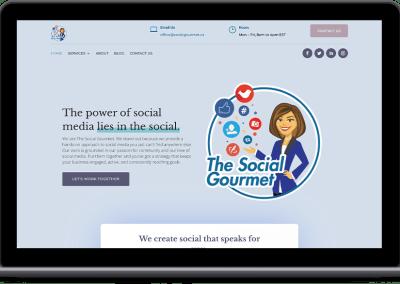 Social Gourmet Web Design Portfolio