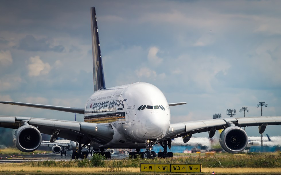 Singapore Airlines Airbus A380 at Frankfurt Airport