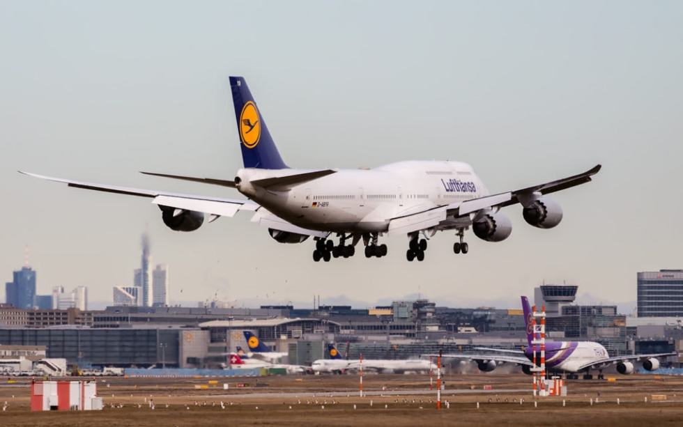 Planespotting at Frankfurt airport