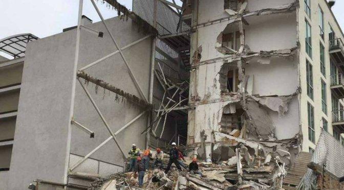 Detienen a apoderado legal de edificio colapsado en sismo de septiembre