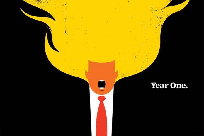 TIME dedica portada a Donald Trump a un año de su mandato