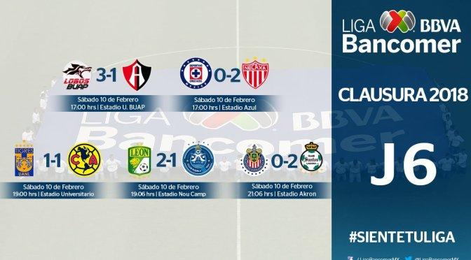 Chivas sufre tercera derrota en fila al caer 0-2 con Santos en Liga MX