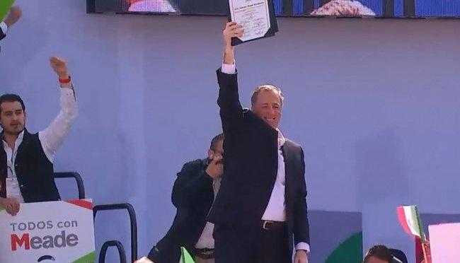 PRI elige a José Antonio Meade como su candidato a la Presidencia de la República
