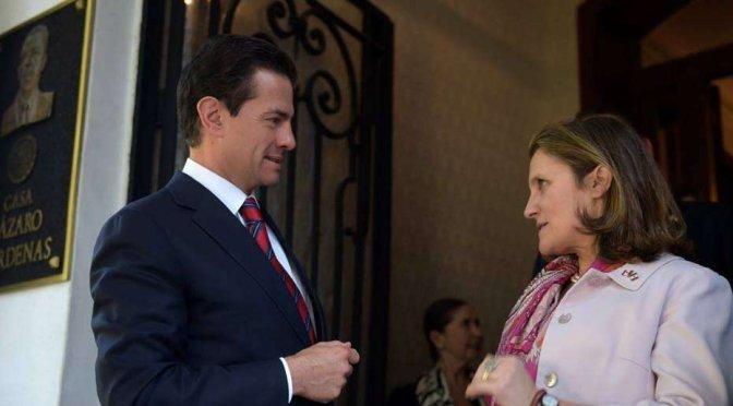 Peña Nieto y ministra de Canadá celebran relación y abordan tratados