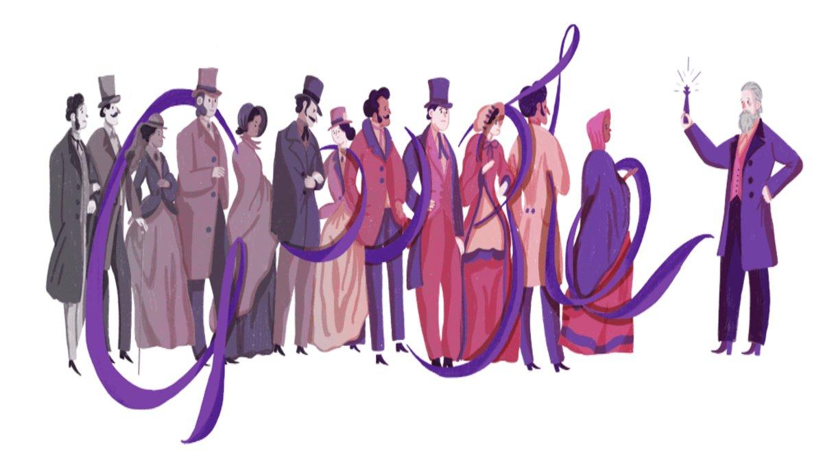 Doodle recuerda a William Perkin, inventor del primer tinte sintético