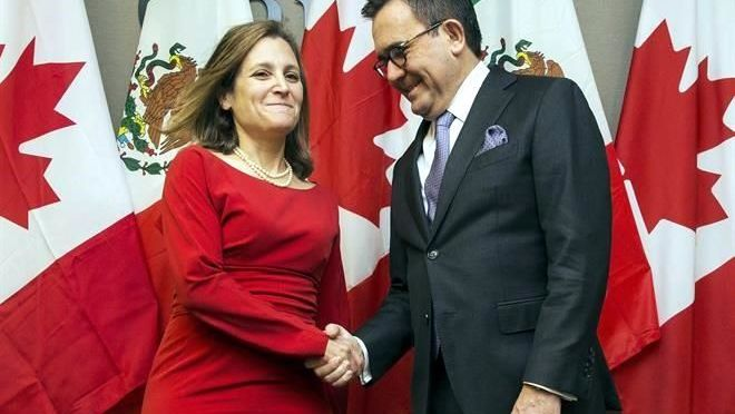 México y Canadá analizan temas del TLCAN ante siguiente ronda
