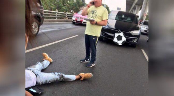 """VIDEO: """"El Piojo"""" Herrera, envuelto en accidente con motociclista en Periférico"""