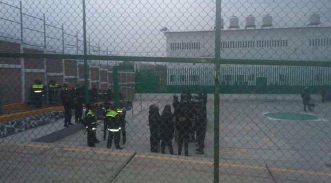 Autoridades penitenciarias controlan motín en cárcel de Texcoco