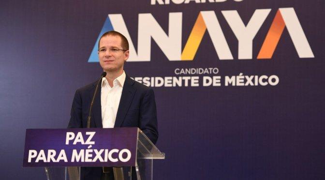 A Margarita la hubiera apoyado, si yo no fuera candidato: Anaya