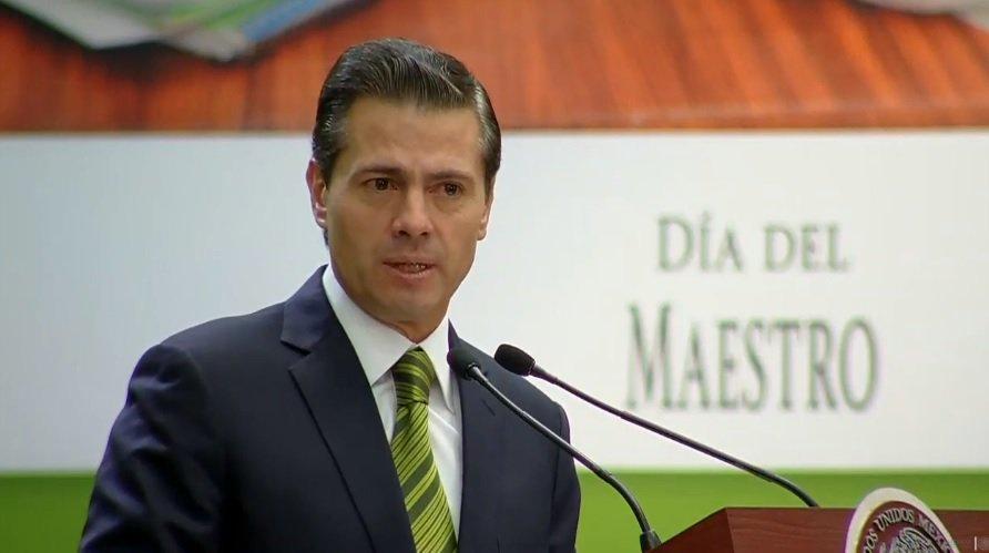 Reforma educativa, la que más apoyo tiene entre la sociedad: Peña Nieto