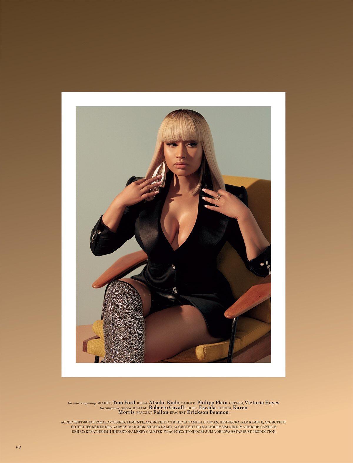 Nicky Minaj en la portada de Harper´s Bazaar