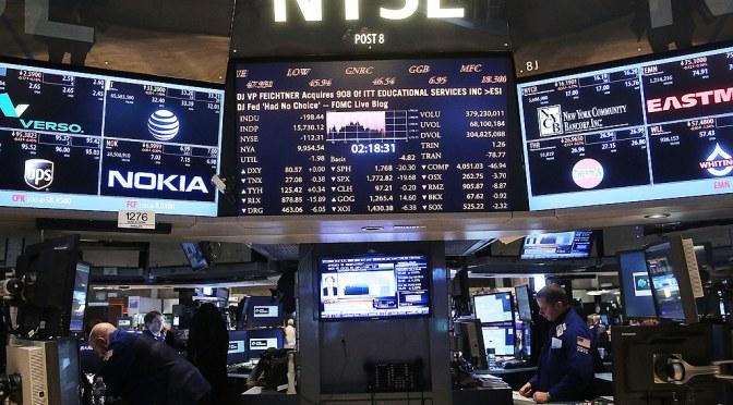 Dow Jones cierra con pérdida de 0.59 por ciento