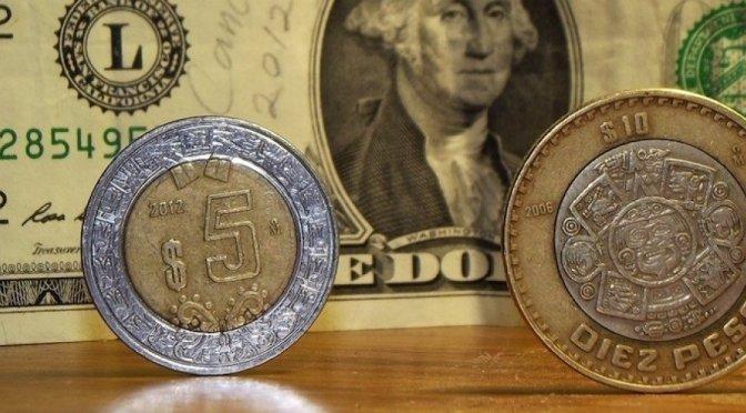 El peso cerró la sesión con una depreciación de 0.19% o 3.7 centavos