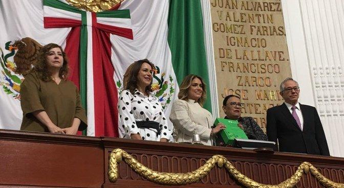 Entregaron ante el pleno del Congreso local Primer Informe de Claudia Sheinbaum