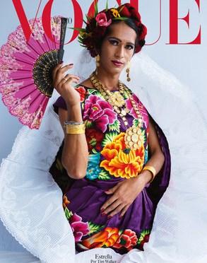 Por primera vez Vogue México y British Vogue unen fuerzas para celebrar los 20 años del título donde presentan la tradición de los Muxe' Naa fotografiados por el reconocido Tim Walker
