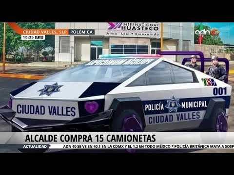 Alcalde adquiere camionetas futuristas