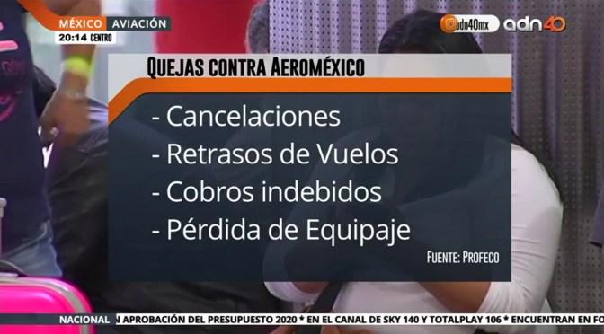 Quejas en Aeroméxico por mal servicio