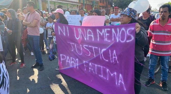 Detienen a los dos sospechosos por el feminicidio de Fátima