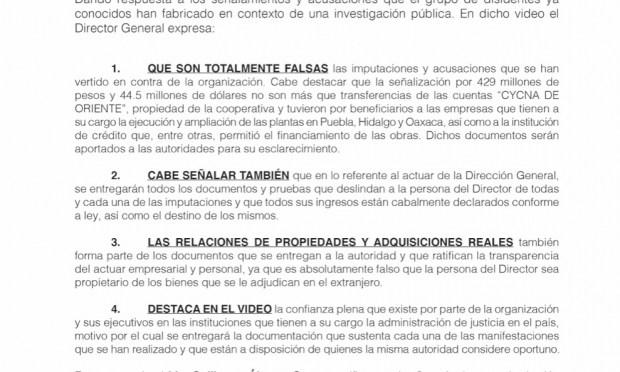 Rechaza Billy Álvarez acusaciones por presunto desvío de 1,200 mdp