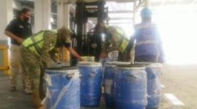 Aduanas decomisa 220 kg de fentanilo en el AICM