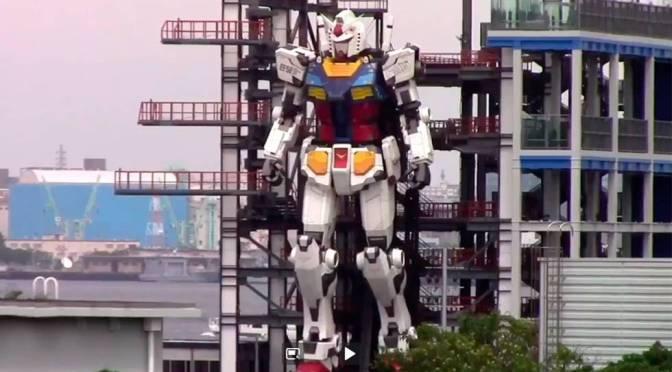 Video de robot gigante en la bahía de Yokohama recibe millones de vistas en Twitter