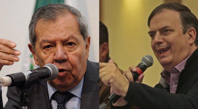 Marcelo Ebrard se irá de Morena si presido dirigencia del partido: Muñoz Ledo