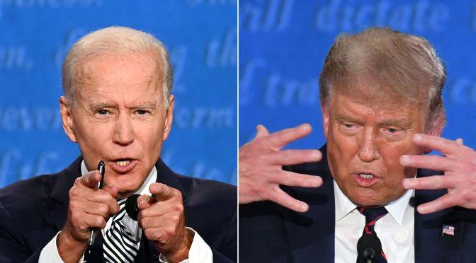 """De """"¿Cómo estás?"""" a """"¿Te quieres callar?"""", así se vivió el primer debate presidencial de EU"""