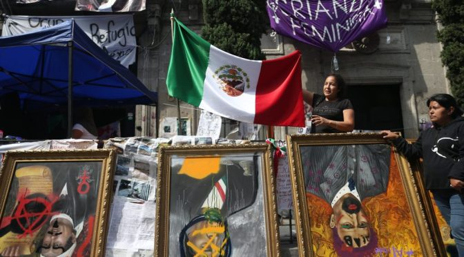 «Okupación» y protestas feministas contra la violencia en México