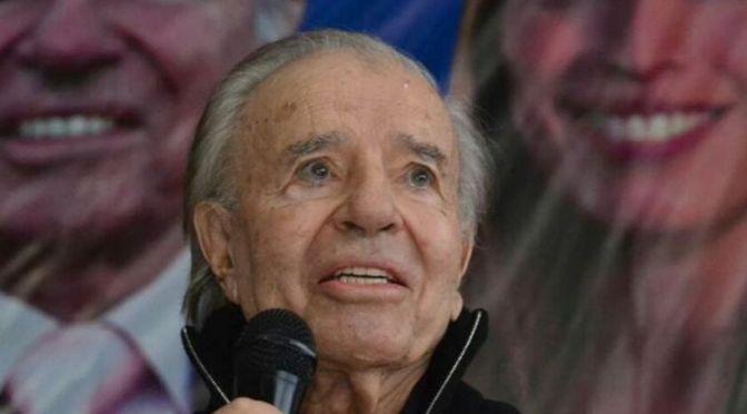 El expresidente argentino Carlos Menem está en coma inducido tras sufrir un fallo renal
