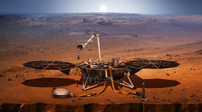 NASA declara inservible excavadora de sonda InSight en Marte