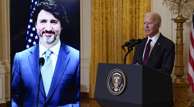 Más políticas y menos demagogia en primera reunión Biden-Trudeau