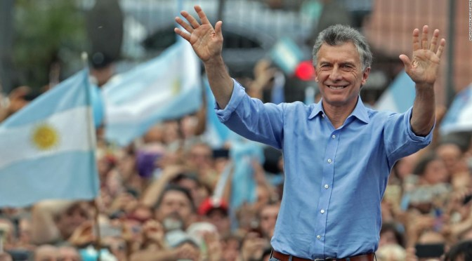 Macri augura fin de populismo argentino y triunfo opositor