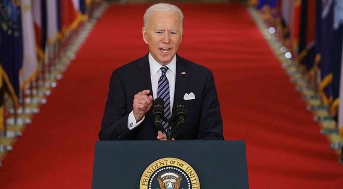 Discurso de Biden atrae a más televidentes que el primer discurso televisivo de Trump